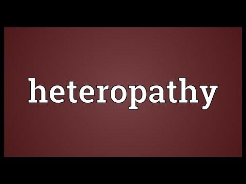 Heteropathy Meaning