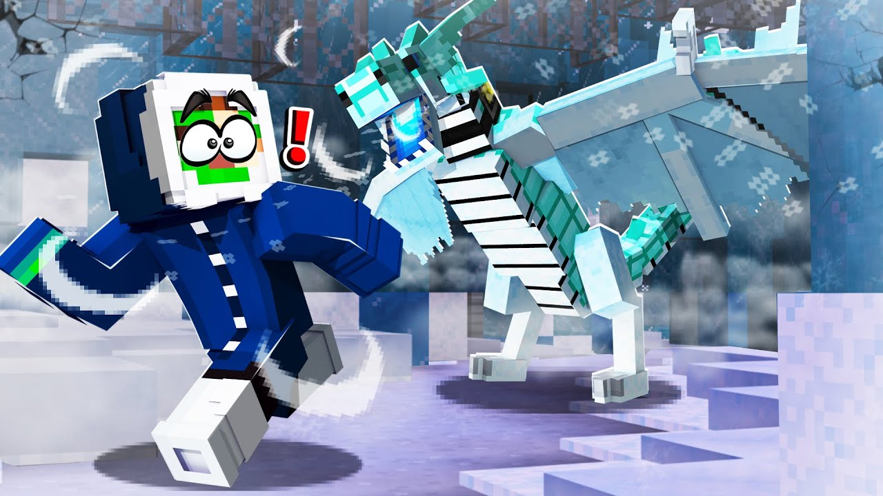 ESCAPE THE EVIL ICE MONSTER in MINECRAFT!