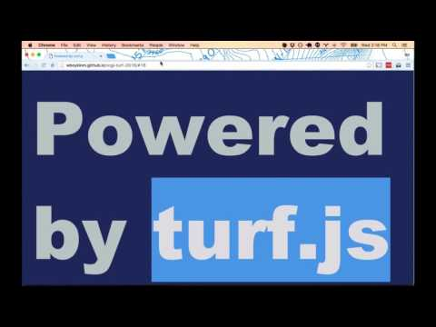 Geoprocessing in a web browser for fun and profit  using turf js for spatial data c