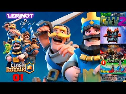 Clash Royale Guia tutorial como jugar a Clash Royale Cartas, Cofres y Gemas subir personajes