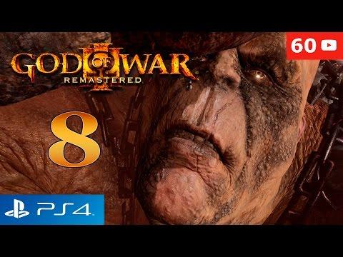 God of War 3 Remastered PS4 | Kratos vs Cronos Boss | Walkthrough Parte 8 Gameplay Español 60fps