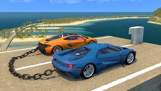 Beamng drive - Quay bollard against chained cars