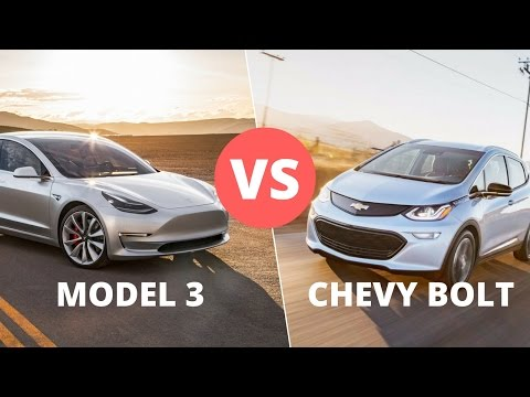 Thumbnail: Tesla Model 3 vs Chevy Bolt: Cost, Speed, Safety and Tech Features Reviewed and Compared