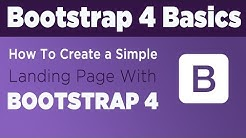 How To Create a Simple Landing Page With Bootstrap 4