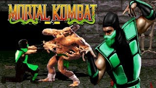 MORTAL KOMBAT 1 REMAKE (MUGEN) - PC LONGPLAY - Play as Reptile (Complete Playthrough)