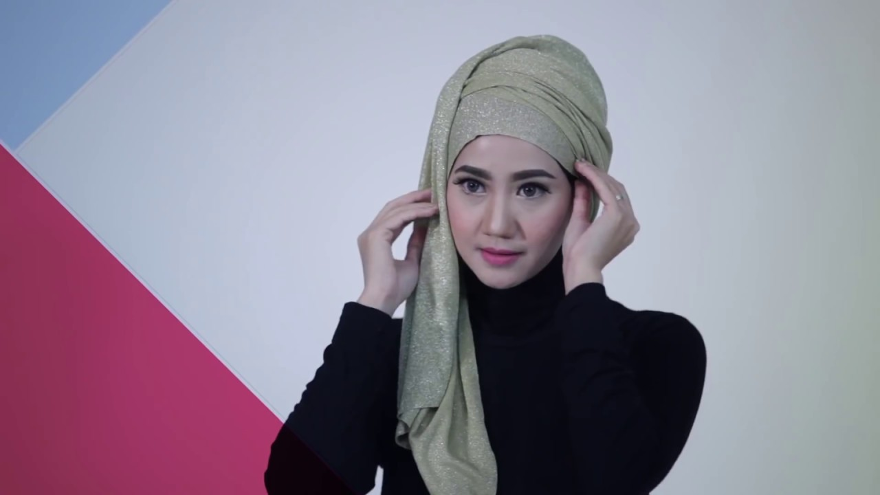 Tutorial Hijab Turban Glitter Glamour YouTube