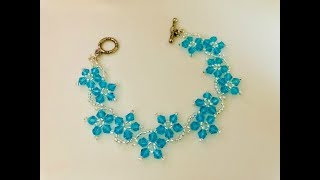 Blossom Beaded Bracelet or Necklace.DIY Beaded Bracelet