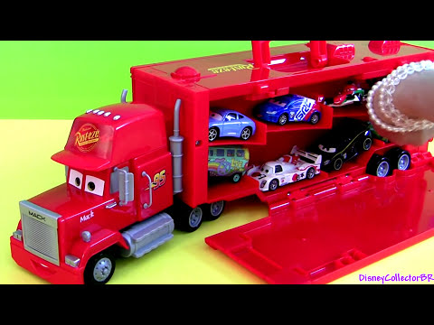 exclusive mack truck carry case disney cars display store 16 diecast cartoys pixar cars2 review youtube - Disney Cars Toys Truck