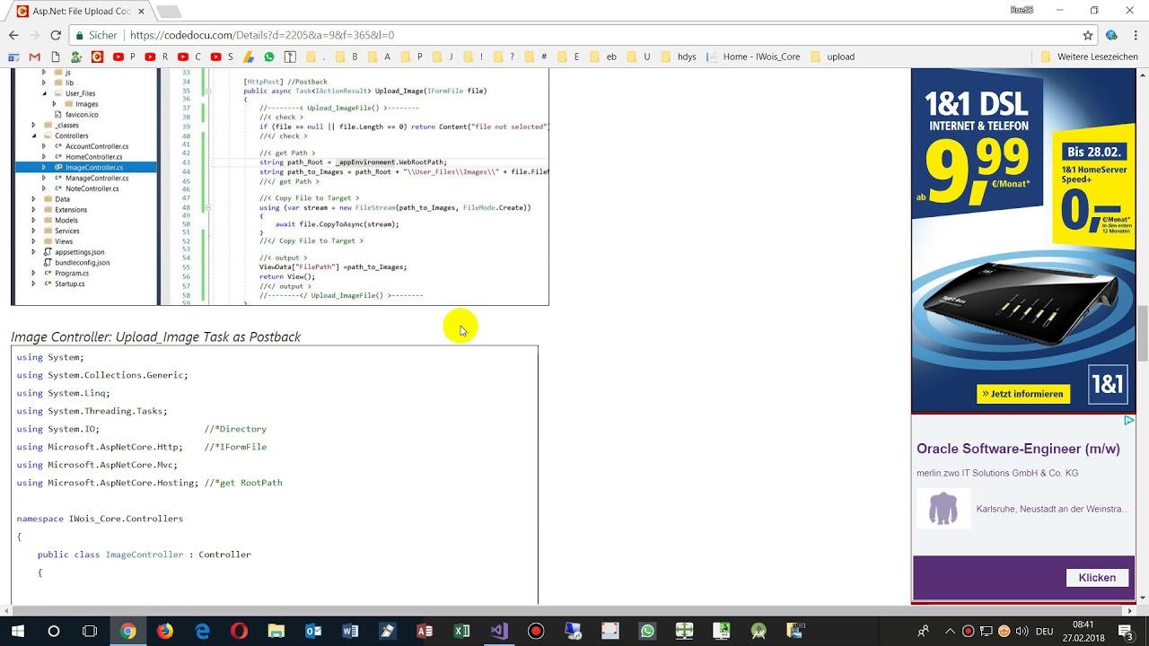 ASP MVC Core: File Upload Example  Upload Image to Server