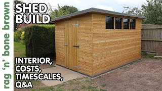Finished Shed - Interior / Costs / Timescales / Q&A