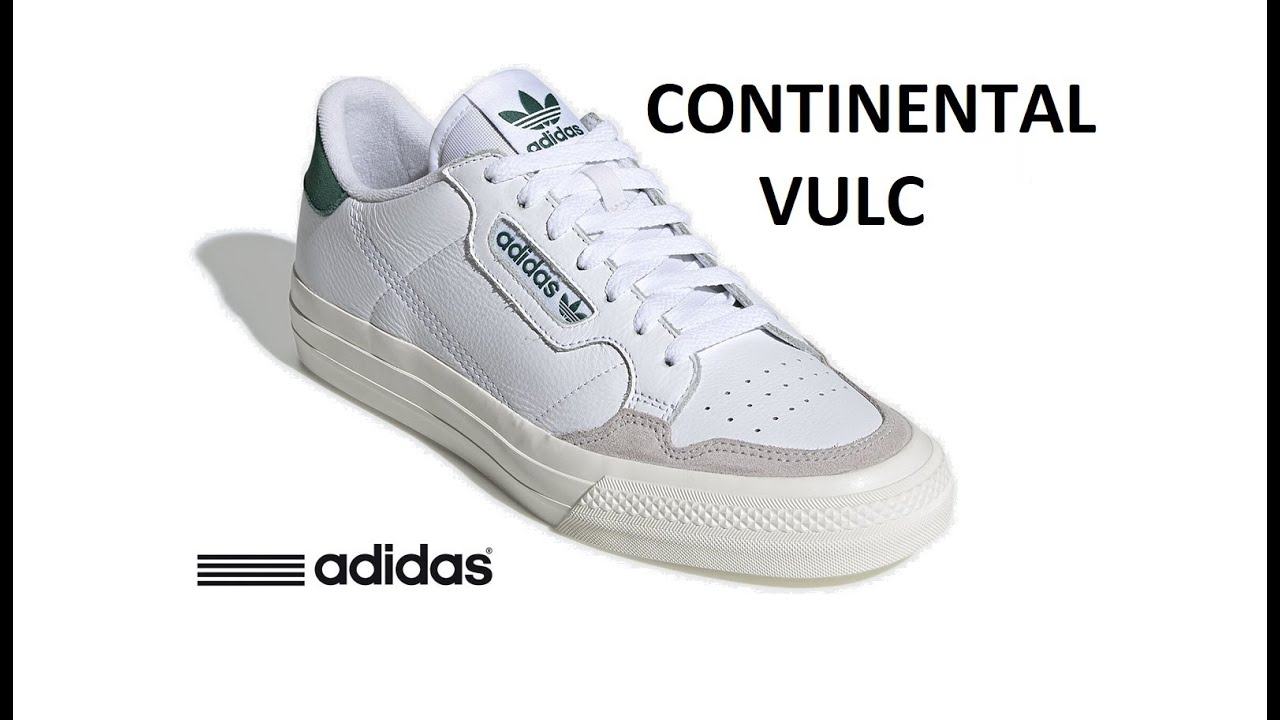 ADIDAS CONTINENTAL VULC - WHITE GREEN EF3534 - ON FEET