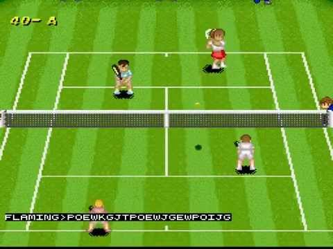 Plays... Super Tennis (SNES) multiplayer with Fr0steh^