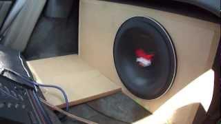 single 12 subwoofer @ 400 watts flex.