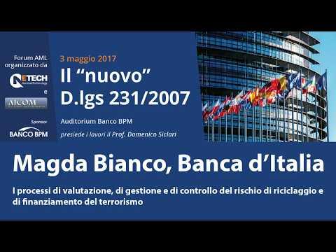 """Magda Bianco, Banca d'Italia - Milano, 3/5/17 - Convegno Antiriciclaggio """"Il nuovo D.lgs. 231/07"""""""