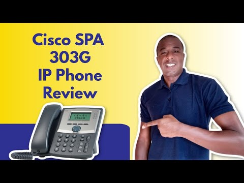 Cisco SPA 303 IP Phone Review - 3 Line VOIP Phone