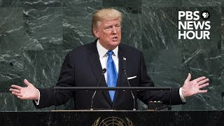 WATCH: President Donald Trump addresses the United Nations General Assembly