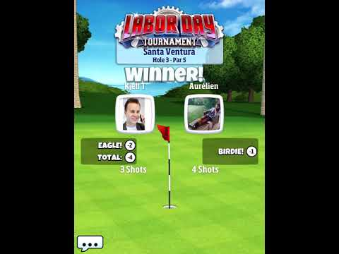 Golf Clash, Qualifying round in ROOKIE - 121 trophys and ONLY with basic ball