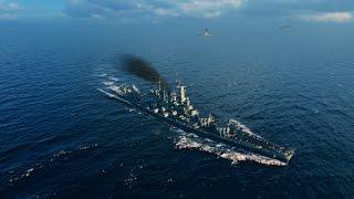 World Of Warships - USS North Carolina Gameplay : Cowards