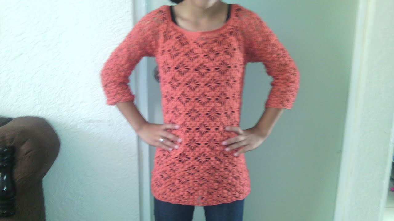 Como hacer una blusa de manga 3 4 en crochet paso a paso - Como empezar a hacer punto paso a paso ...