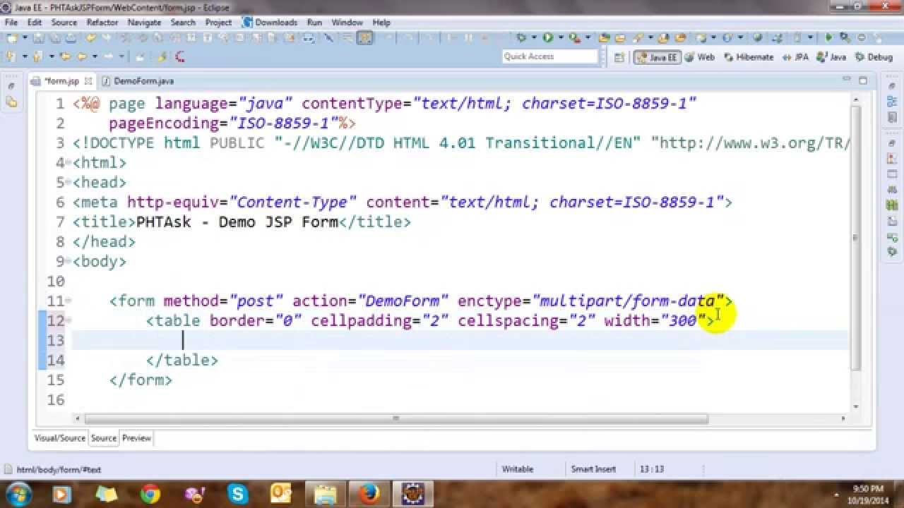 Upload File and Get Value Control in JSP Form - YouTube