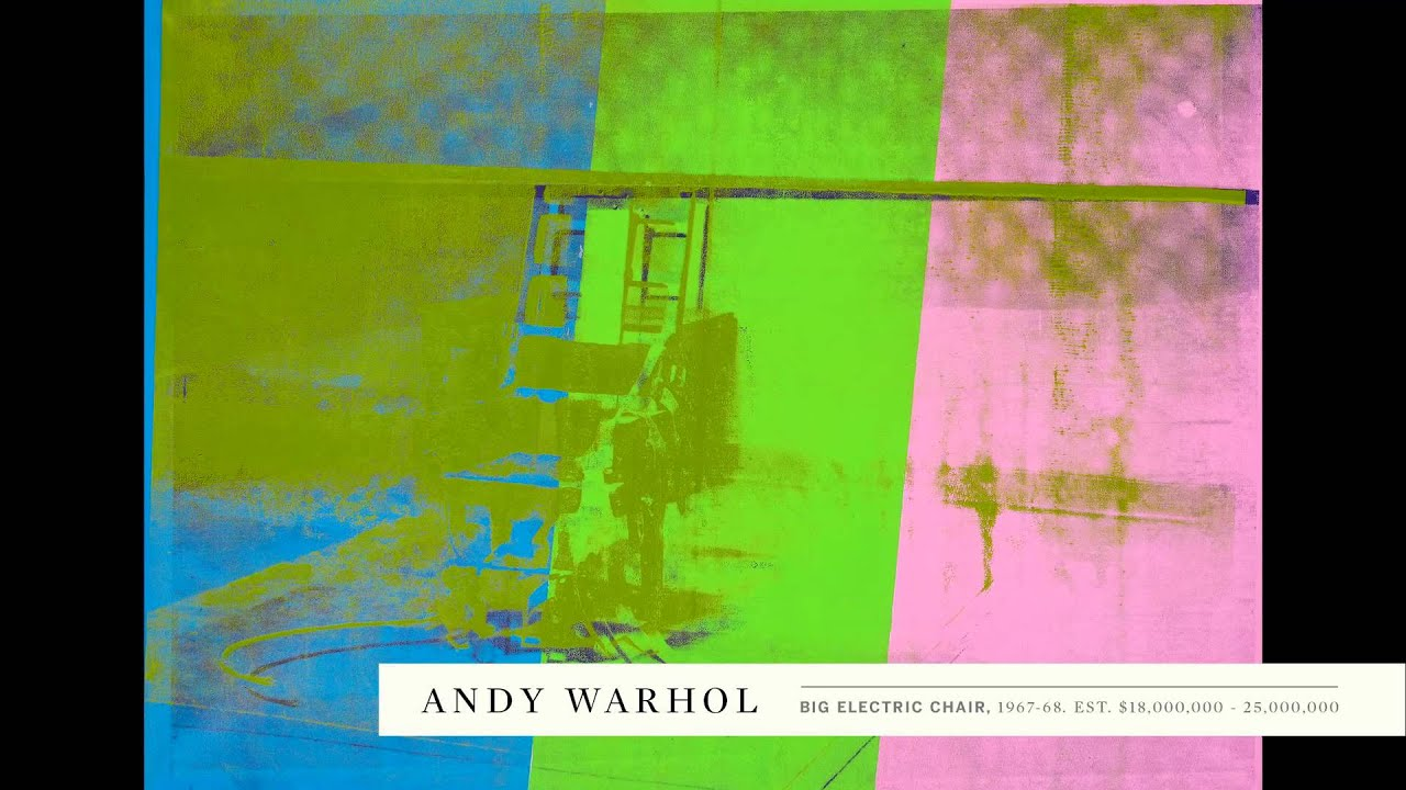 Electric chair andy warhol - Andy Warhol S Technicolor Big Electric Chair
