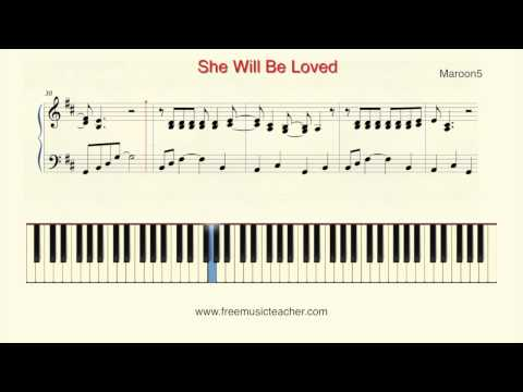"How To Play Piano: Maroon5 ""She Will Be Loved"" Piano Tutorial by Ramin Yousefi"