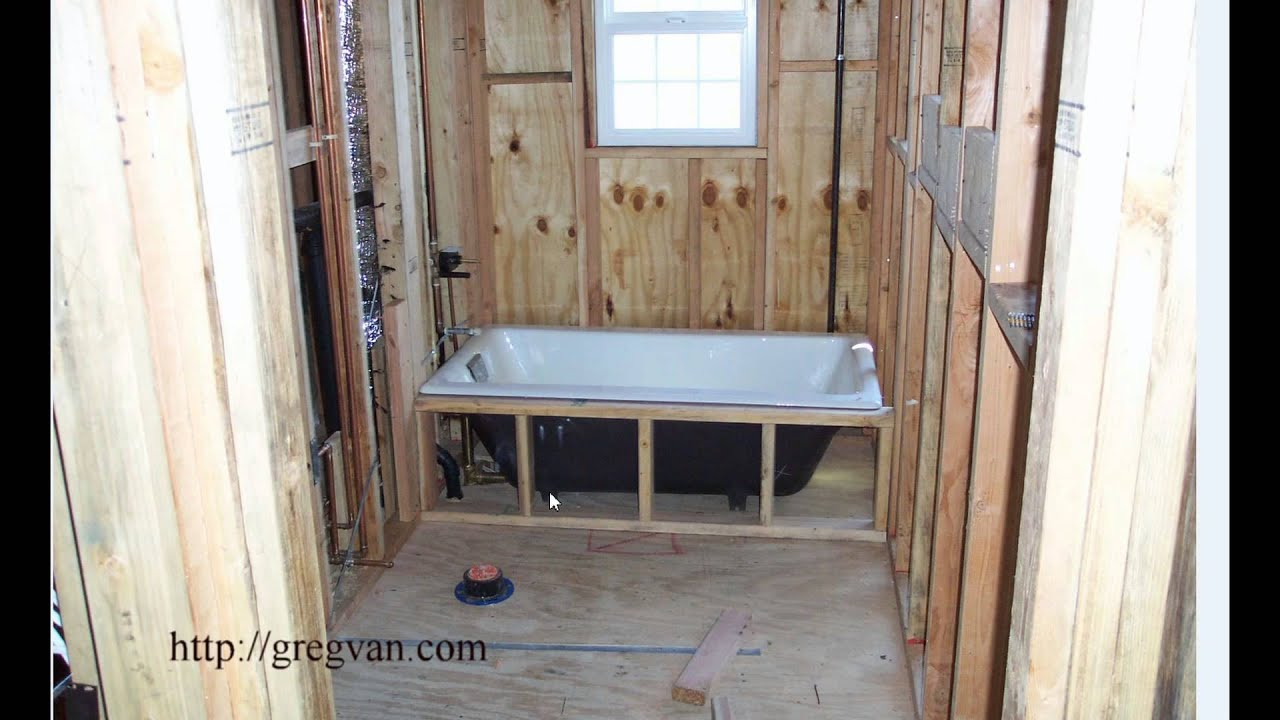 Easy Bathtub Installation Tip For New Home Construction And Some Remodeling  Projects   YouTube
