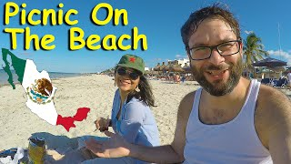 Having A Picnic On Playa Progreso - A Typical Day In The Life Of An American Living In Mexico