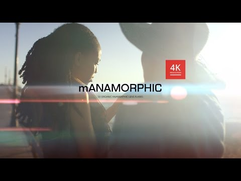 mAnamorphic - 50 Organic Anamorphic Lens Flares for any Video Editing Software