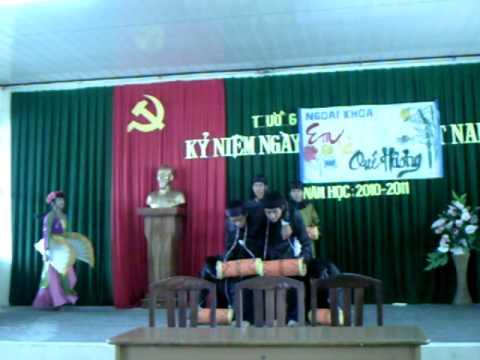 Múa:Trống cơm,lớp 10b2,thpt Nguyễn Việt Hồng