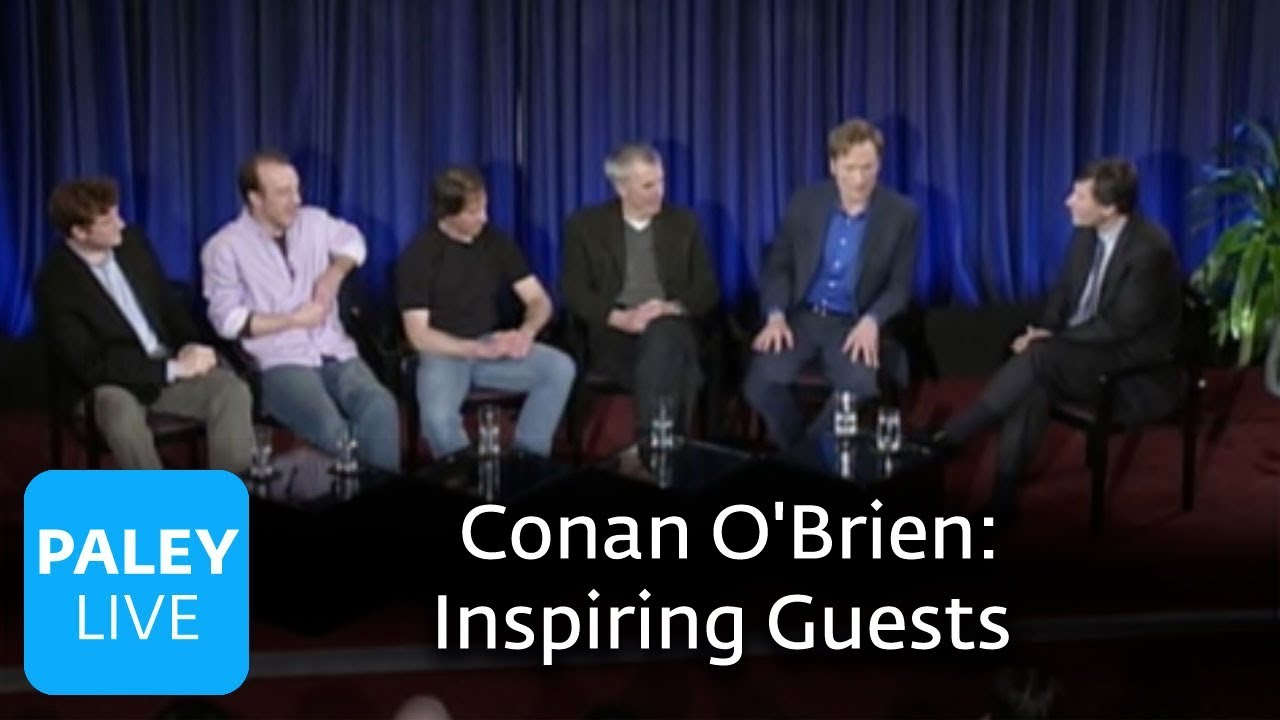 late night with conan o brien inspiring guests paley center 2007