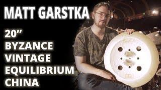 """Meinl Cymbals - Matt Garstka - 20"""" Byzance Vintage Equilibrium China"""