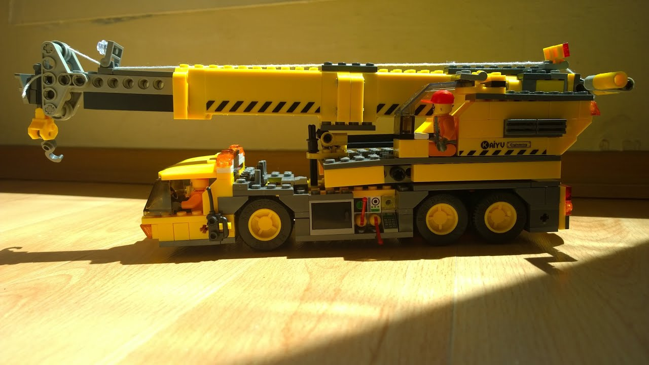 lego crane lego city wheeled crane lego kran. Black Bedroom Furniture Sets. Home Design Ideas
