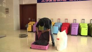 luggage testing video(unbreakable luggage)