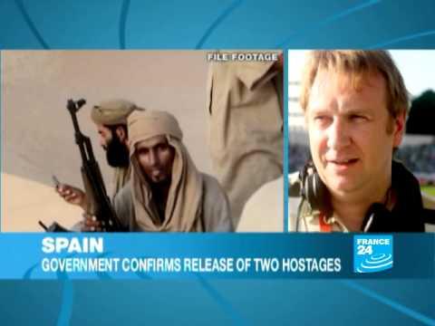 Spanish hostages freed by al Qaeda return home