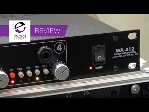 review wa 412 quad microphone preamp youtube. Black Bedroom Furniture Sets. Home Design Ideas