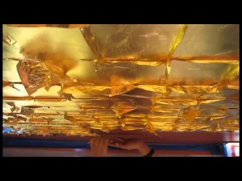 23 Karat Gold Leaf Ceiling