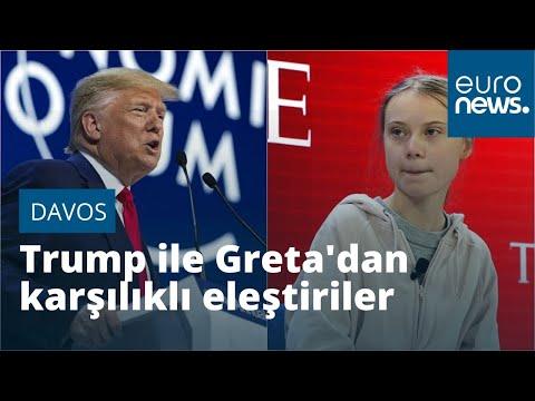 Davos'ta konuşan Trump ile Greta isim vermeden birbirlerini eleştirdi