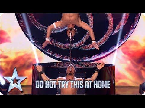 Vardanyan Brothers' DEATH-DEFYING sword show | Semi-Finals | BGT 2019
