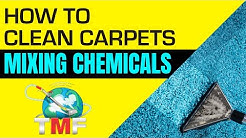 How to mix up carpet cleaning chemicals correctly