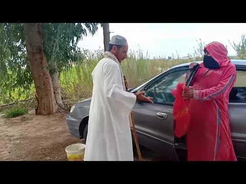 انظر ماذا فعل  الحاج مبروك في مديحة مراتو،وهي بتغسل السيارة /لا انصحك بدخول موت من الضحك