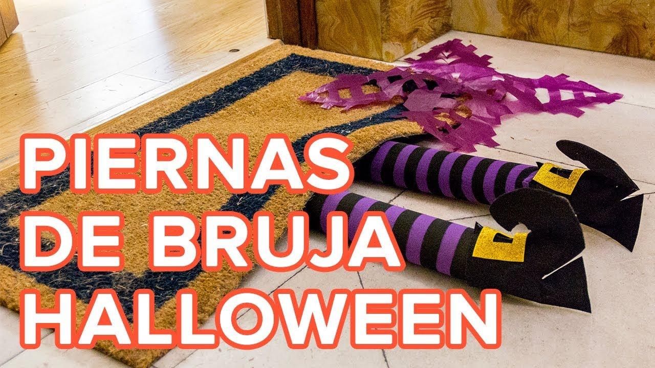 C mo hacer unas piernas de bruja para decorar la casa en - Hacer manualidades en casa ...