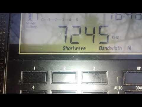 CRI Swahili vs Voice of Tajik received in Romania on 7245 kHz
