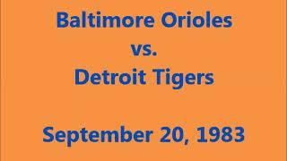 WJR-AM Detroit: September 20, 1983 Orioles vs. Tigers