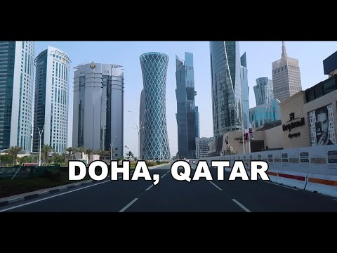 Doha, Qatar - Driving to Downtown Doha