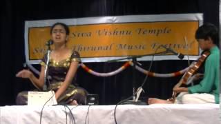 Medha singing Kripaya Palaya Shoure