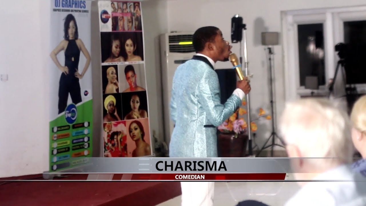 Cameroonian Comedian; Charisma performing at the Virgin Blade Movie Premier