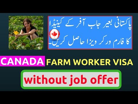 Canada Farm Worker Visa Without Job Offer