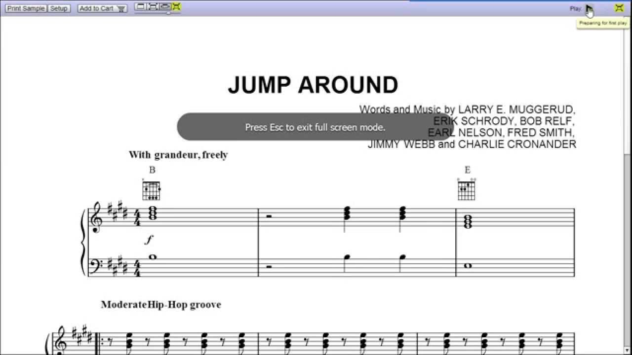 Jump around by house of pain piano sheet music teaser youtube jump around by house of pain piano sheet music teaser hexwebz Choice Image