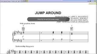 Jump Around by House of Pain - Piano Sheet Music :Teaser
